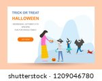 flat design  children in... | Shutterstock .eps vector #1209046780