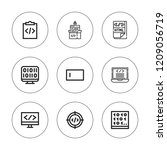html icon set. collection of 9... | Shutterstock .eps vector #1209056719