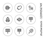 charcoal icon set. collection... | Shutterstock .eps vector #1209056749