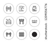 barrier icon set. collection of ... | Shutterstock .eps vector #1209056776