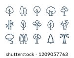 tree related line icon set.... | Shutterstock .eps vector #1209057763