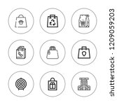shopper icon set. collection of ... | Shutterstock .eps vector #1209059203