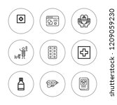 medication icon set. collection ... | Shutterstock .eps vector #1209059230