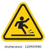 wet floor warning sign | Shutterstock .eps vector #120905980