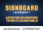signboard lettering lightbox... | Shutterstock .eps vector #1209060760