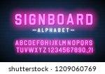 signboard lettering lightbox... | Shutterstock .eps vector #1209060769