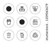 bin icon set. collection of 9... | Shutterstock .eps vector #1209063679