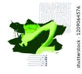 green brush stroke and texture. ... | Shutterstock .eps vector #1209064576