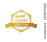 retro vintage insignias or... | Shutterstock .eps vector #1209070183