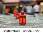 candlestick display and soft... | Shutterstock . vector #1209070720