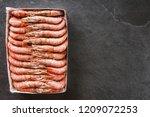 fresh red shrimps or prawn... | Shutterstock . vector #1209072253
