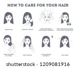 how to care for your hair... | Shutterstock .eps vector #1209081916