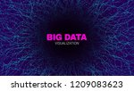 futuristic portal concept. big... | Shutterstock .eps vector #1209083623