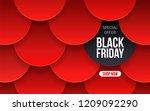 modern black friday banner for... | Shutterstock .eps vector #1209092290