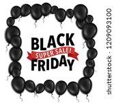 black friday poster design | Shutterstock .eps vector #1209093100