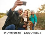 family  pets and people concept ... | Shutterstock . vector #1209095836