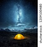 camping in the wilderness. a... | Shutterstock . vector #1209100480