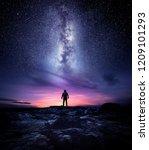 night time long exposure... | Shutterstock . vector #1209101293