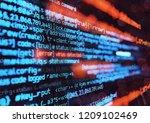 computer programming code... | Shutterstock . vector #1209102469