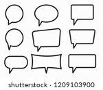 Speech Bubbles Set Of Outlined...