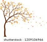 autumn season with falling...   Shutterstock .eps vector #1209106966