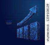 growth chart. business... | Shutterstock .eps vector #1209108139