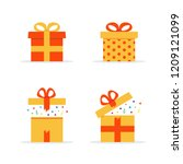 gift boxes set of different... | Shutterstock .eps vector #1209121099
