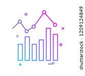 graph icon design vector | Shutterstock .eps vector #1209124849
