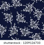 seamless flowers bunches...   Shutterstock .eps vector #1209126733