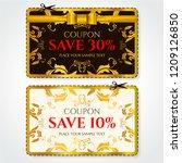 discount coupon  voucher vector.... | Shutterstock .eps vector #1209126850