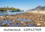 inland navigation vessel with... | Shutterstock . vector #1209127909