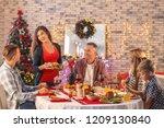 happy family having christmas... | Shutterstock . vector #1209130840