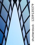 steel and glass. reworked close ... | Shutterstock . vector #1209135379