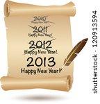 2013 happy new year scroll.... | Shutterstock .eps vector #120913594