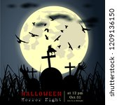 abstract of halloween  template ... | Shutterstock .eps vector #1209136150
