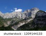 austrian alps. a mountain... | Shutterstock . vector #1209144133