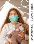 sick little girl | Shutterstock . vector #1209144886