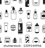 hand drawn seamless pattern... | Shutterstock .eps vector #1209144946