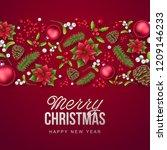merry christmas background.... | Shutterstock .eps vector #1209146233