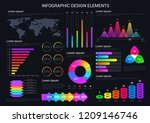 graphic and charts  diagrams... | Shutterstock .eps vector #1209146746
