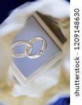 a wedding ring box with a... | Shutterstock . vector #1209148630