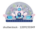 automatic robot bot arms... | Shutterstock .eps vector #1209153349