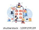mobile application development... | Shutterstock .eps vector #1209159139