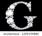 diamond letters with gemstones  ... | Shutterstock . vector #1209159880