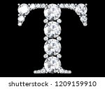 diamond letters with gemstones  ... | Shutterstock . vector #1209159910