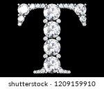 diamond letters with gemstones  ... | Shutterstock . vector #1209159910