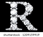 diamond letters with gemstones  ... | Shutterstock . vector #1209159919