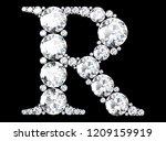 diamond letters with gemstones  ... | Shutterstock . vector #1209159919