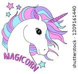 magic unicorn colorful | Shutterstock .eps vector #1209161440