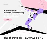 web page design templates with... | Shutterstock .eps vector #1209165676